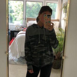 Lucky brand camo hoodie